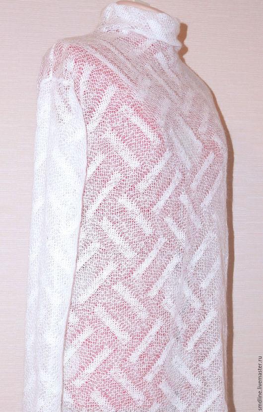 Кофты и свитера ручной работы. Ярмарка Мастеров - ручная работа. Купить Свитер из тонкой шерсти. Handmade. Белый