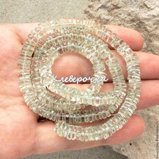 Для украшений ручной работы. Ярмарка Мастеров - ручная работа. Купить _Аметист 6-7 мм диск зеленый чипсы бусины камни для украшений. Handmade.