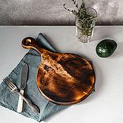 Посуда handmade. Livemaster - original item Wooden board made of a single piece of cedar wood for bread RD47. Handmade.