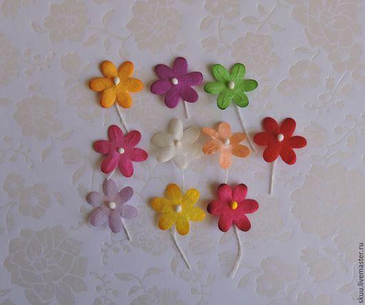Открытки и скрапбукинг ручной работы. Ярмарка Мастеров - ручная работа. Купить Мини цветочки микс разноцветных 10 шт. Handmade.