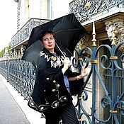 """Одежда ручной работы. Ярмарка Мастеров - ручная работа Накидка """"Осень в Париже"""". Handmade."""