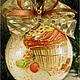 """Новый год 2017 ручной работы. Новогодние шарики """"сладкая парочка"""" декупаж. Tatiana (missmarple). Интернет-магазин Ярмарка Мастеров."""