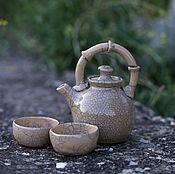 """Посуда ручной работы. Ярмарка Мастеров - ручная работа Чайник """"Бамбук"""". Раку керамика.. Handmade."""