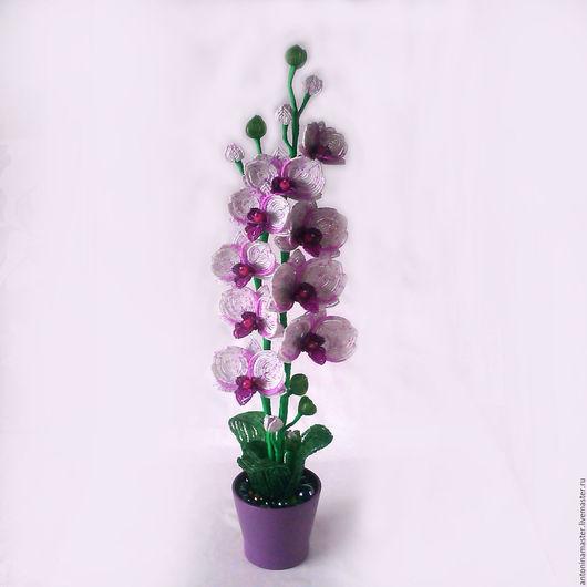 """Искусственные растения ручной работы. Ярмарка Мастеров - ручная работа. Купить Цветы из бисера орхидея """" Ягодный десерт"""". Handmade."""