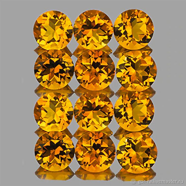 Natural citrine, 4 mm, Minerals, Yoshkar-Ola,  Фото №1