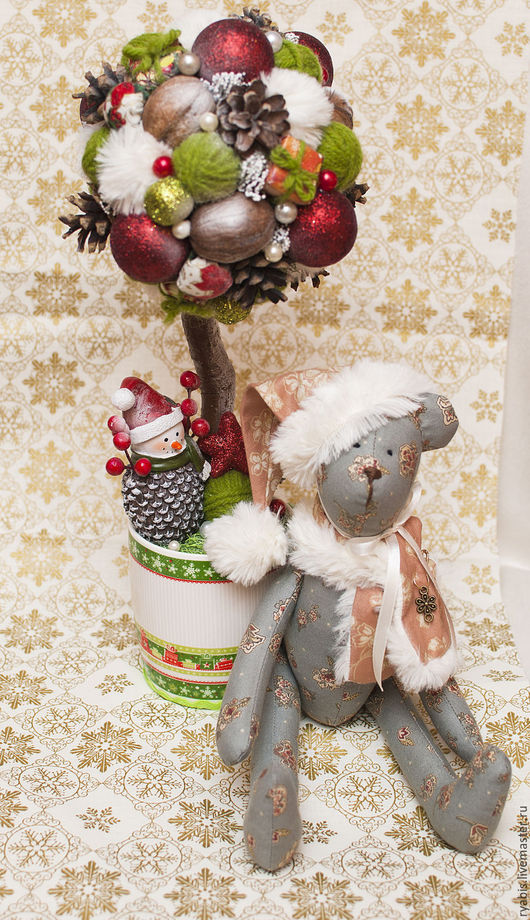 Куклы Тильды ручной работы. Ярмарка Мастеров - ручная работа. Купить Новогодние мишки. Handmade. Новогодний подарок, интересный подарок