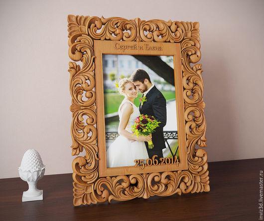Подарки на свадьбу ручной работы. Ярмарка Мастеров - ручная работа. Купить Свадебная фоторамка. Handmade. Коричневый, сувенир, подарки из дерева