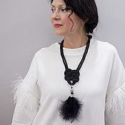 Украшения handmade. Livemaster - original item A braided necklace with a Celtic heart and a feather pendant Dead Kings. Handmade.