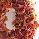 Элементы интерьера ручной работы. Ярмарка Мастеров - ручная работа. Купить Интерьерный венок из кленовых листьев. Handmade. Бордовый