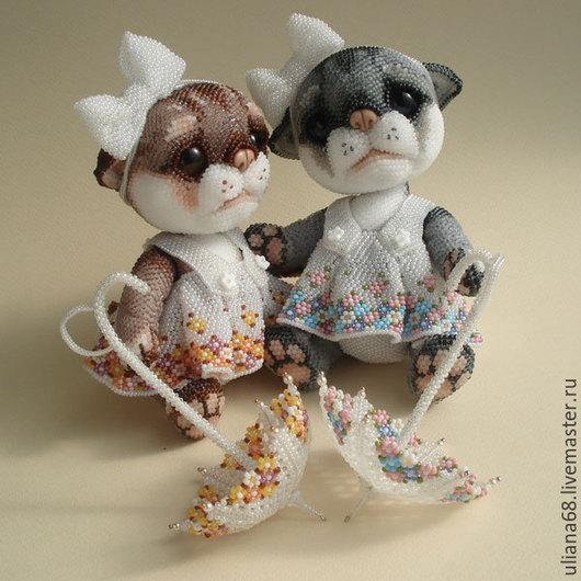 Куклы и игрушки ручной работы. Ярмарка Мастеров - ручная работа. Купить Бисерные КотоПуськи. Handmade. Кошечка, бисер