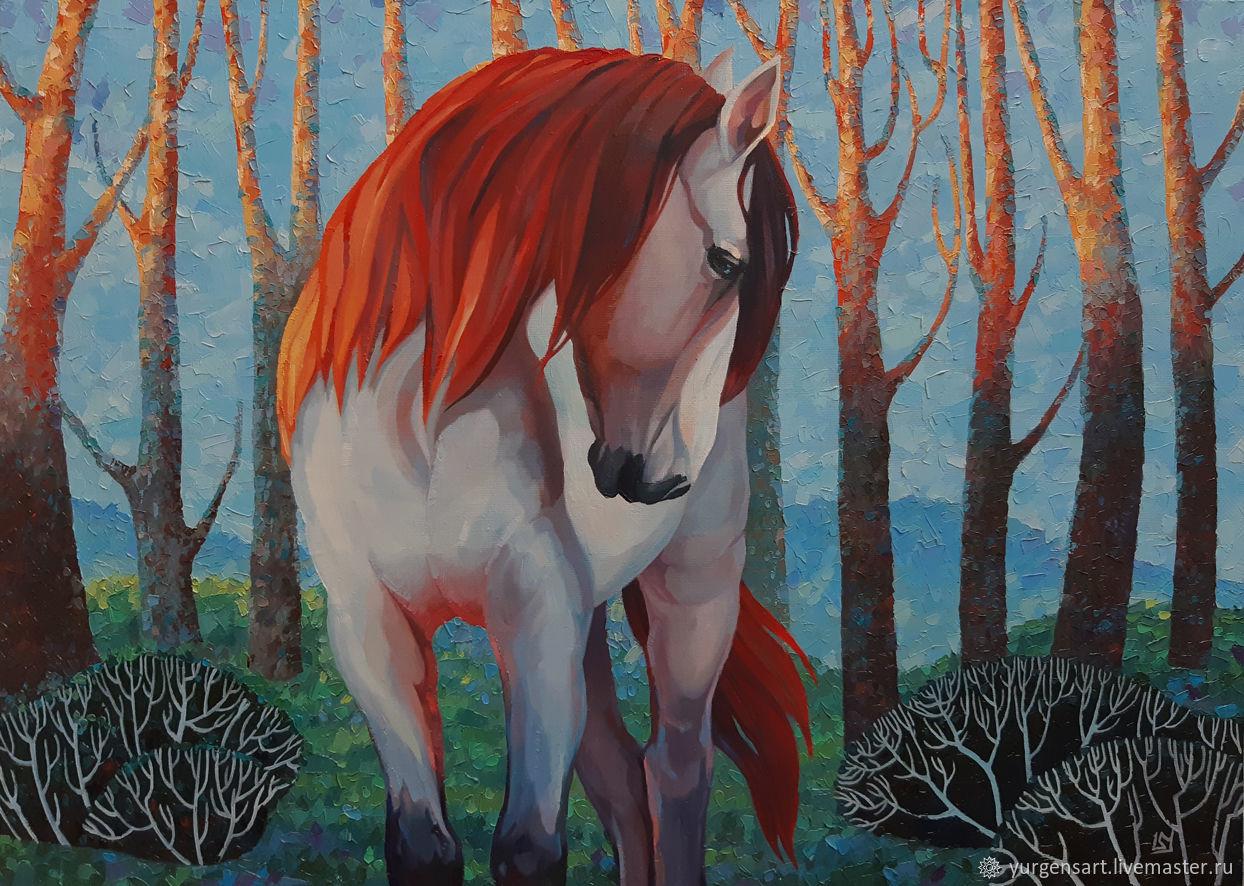 Картина с лошадью Яркий мир, Картины, Санкт-Петербург,  Фото №1