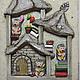 """Блокноты ручной работы. Ярмарка Мастеров - ручная работа. Купить Блокнот """" ежиный дом"""". Handmade. Бежевый, блокнот, ежики"""