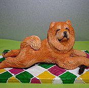 Куклы и игрушки ручной работы. Ярмарка Мастеров - ручная работа фигурка собаки чау чау. Handmade.