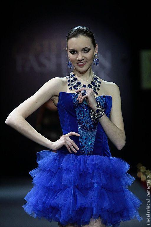 """Платья ручной работы. Ярмарка Мастеров - ручная работа. Купить Платье """"Бархатный синий"""". Handmade. Тёмно-синий, нарядное платье"""