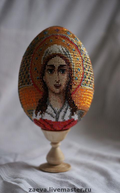 Яйца ручной работы. Ярмарка Мастеров - ручная работа. Купить Яйцо из бисера. Св. Мученица Татьяна. Handmade. Бисер, яйцо