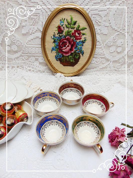 Винтажная посуда. Ярмарка Мастеров - ручная работа. Купить Винтажные кофейные/чайные чашечки, Бавария. Handmade. Комбинированный, красивые чашки