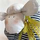 Куклы Тильды ручной работы. Овечка Тельняшка. Яна (HomelyGifts). Ярмарка Мастеров. Овечка игрушка, овечка символ года