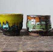 Посуда ручной работы. Ярмарка Мастеров - ручная работа Пиалы пейзажные. Handmade.