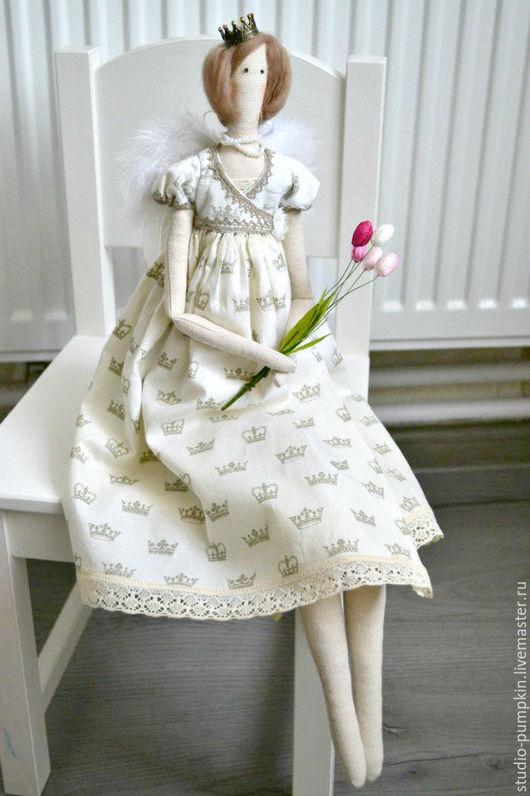 """Куклы Тильды ручной работы. Ярмарка Мастеров - ручная работа. Купить Тильда """"Принцесса Ангел"""". Handmade. Комбинированный, интерьерная игрушка"""