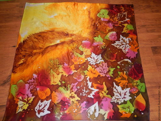 Шали, палантины ручной работы. Ярмарка Мастеров - ручная работа. Купить платок- Осенний Вальс. Handmade. Коричневый, осень, хендмейд