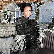 Одежда handmade. Livemaster - original item Handmade Felted jacket black and White.. Handmade.