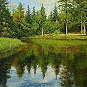 Картины и панно handmade. Livemaster - original item Forest lake. Handmade.