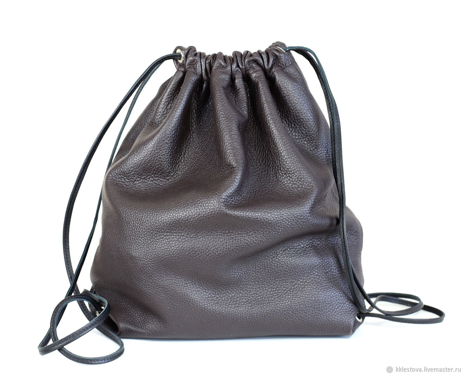 Chocolate Backpack leather big Bag with pocket, Backpacks, Moscow,  Фото №1