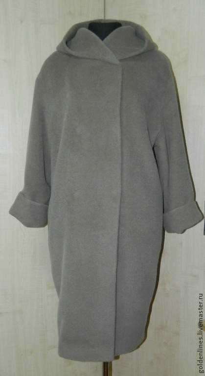 Верхняя одежда ручной работы. Ярмарка Мастеров - ручная работа. Купить пальто -оверсайз-плед. Handmade. Серый, пальто женское
