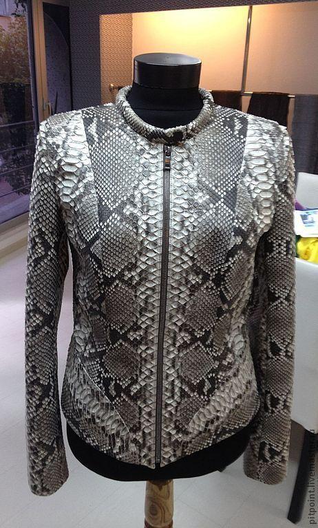 Верхняя одежда ручной работы. Ярмарка Мастеров - ручная работа. Купить Куртка из питона. Handmade. Белый, куртка из питона
