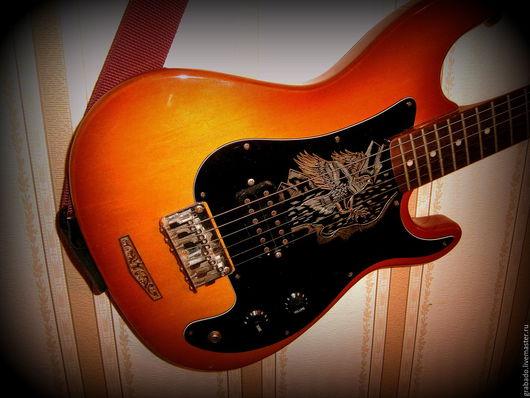 Струнные инструменты ручной работы. Ярмарка Мастеров - ручная работа. Купить Украшение гитары. Handmade. Золотой, персональный заказ