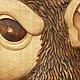 """Животные ручной работы. картина из дерева """"Мартышка"""". Paulus. Ярмарка Мастеров. Резьба по дереву, картина для интерьера, лак матовый"""