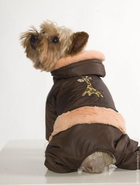 """Одежда для собак, ручной работы. Ярмарка Мастеров - ручная работа. Купить Комбинезон """"Жираф - длинношеее животное!"""". Handmade. Одежда для собак"""