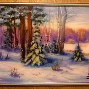 """Картины и панно ручной работы. Ярмарка Мастеров - ручная работа """"Январь"""". Handmade."""