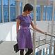 """Платья ручной работы. Платье ручной работы """"Lilac maelstrom"""". Anastasia Serebryannikova (muza888). Ярмарка Мастеров. Платье ручной работы"""