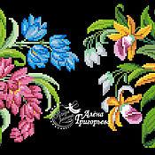 """Материалы для творчества ручной работы. Ярмарка Мастеров - ручная работа Схема вышивки """"Лилейники и орхидеи"""". Handmade."""