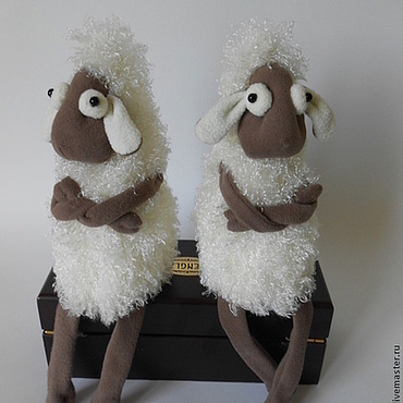 Куклы и игрушки ручной работы. Ярмарка Мастеров - ручная работа Овечки символ Нового года. Дуэт.. Handmade.