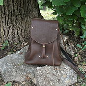 Сумки и аксессуары handmade. Livemaster - original item Backpack leather Espresso.. Handmade.