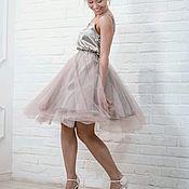 Одежда handmade. Livemaster - original item Skirt dusty pink tulle at the waist. Handmade.