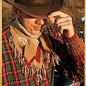 Аксессуары ручной работы. Ярмарка Мастеров - ручная работа Байкерский шарф-воротник + напульсники. Handmade.