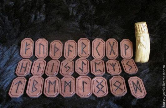Гадания ручной работы. Ярмарка Мастеров - ручная работа. Купить Руны(кожанные руны). Handmade. Руны, кожа натуральная, скандинавия, шаманизм