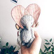 Куклы и игрушки ручной работы. Ярмарка Мастеров - ручная работа Слоник-валентинка.. Handmade.