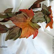 """Свадебный салон ручной работы. Ярмарка Мастеров - ручная работа Венок """"Осенние листья"""" Цветы из шелка. Handmade."""