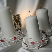 Wedding Candles handmade. Livemaster - original item Wedding candles