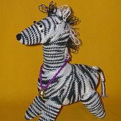 Куклы и игрушки ручной работы. Ярмарка Мастеров - ручная работа Зебра Серьёзная. Handmade.