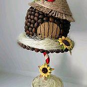 Топиарии ручной работы. Ярмарка Мастеров - ручная работа Топиарий Кофейный домик. Handmade.