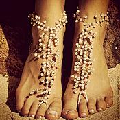 Свадебный салон ручной работы. Ярмарка Мастеров - ручная работа Украшение для ног для пляжной свадьбы. Handmade.