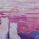 Животные ручной работы. Ярмарка Мастеров - ручная работа. Купить Котики. Handmade. Разноцветный, Кошки, закат на море, вечер, подрамник