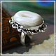 """Кольца ручной работы. Ярмарка Мастеров - ручная работа. Купить кольцо в серебре 925 пр. """"Сахарок"""". Handmade. Белый"""