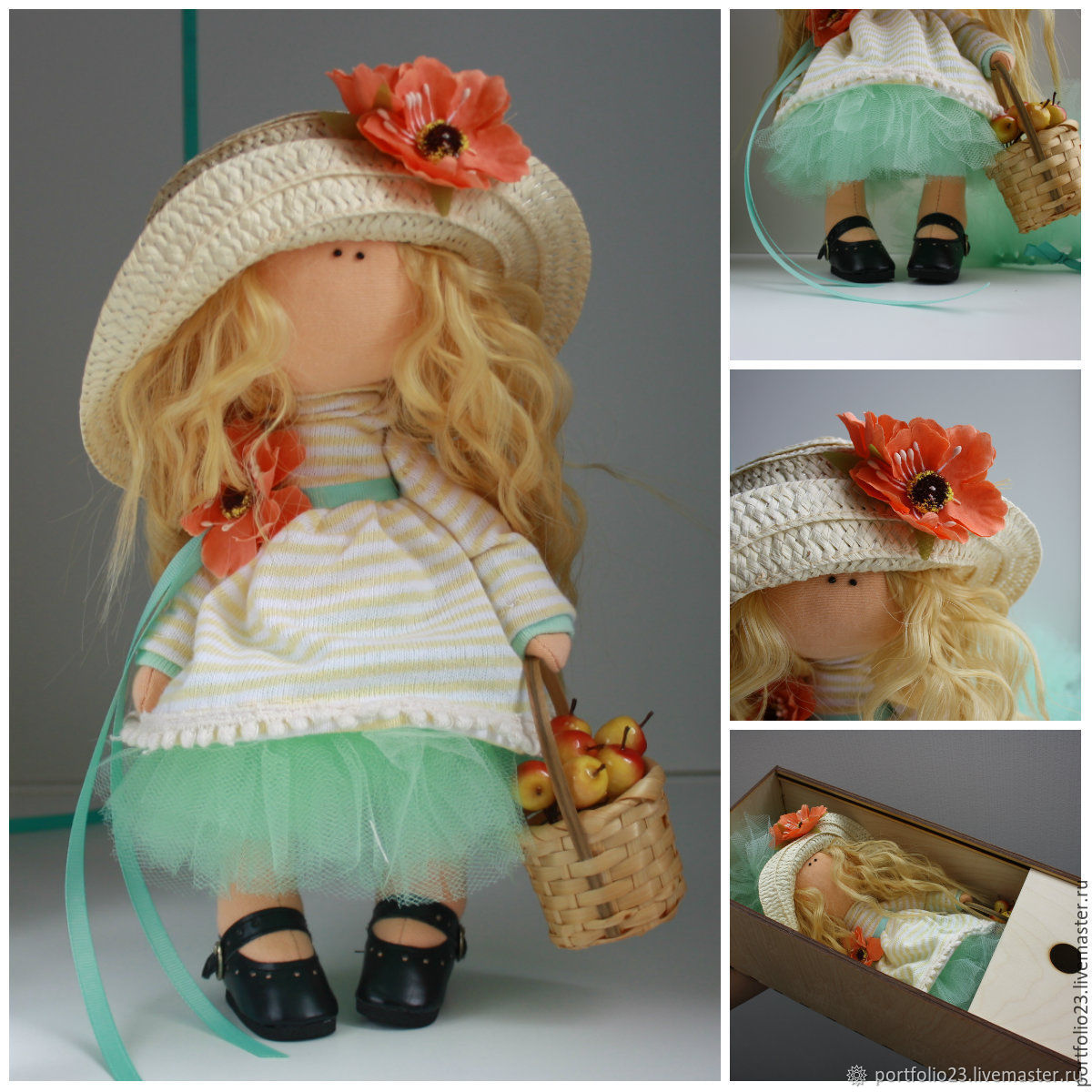 Шляпка на куклу своими руками