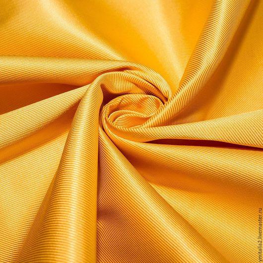 Шитье ручной работы. Ярмарка Мастеров - ручная работа. Купить Саржа вискозная PRADA  желтая. Handmade. Именная ткань